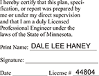 ENG-STAMP-MN - Licensed Professional Engineer (Stamp) - Minnesota<br>ENG-STAMP-MN