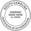 CERTAUTH-SC - Certificate of Authorization - South Carolina<br>CERTAUTH-SC