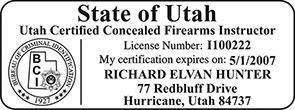 FIREINST-UT - Certified Concealed Firearms Instructor- Utah<br>FIREINST-UT