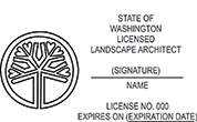 LSARCH-HORIZ-WA - Landscape Architect - Horizontal - Washington<br>LSARCH-HORIZ-WA