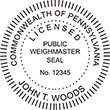 WEIGH-PA - Public Weighmaster Seal - Pennsylvania<br>WEIGH-PA