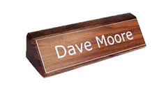 Walnut Wood Desk Nameplates