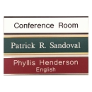Wall Nameplates w/ Holder