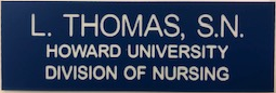 B-D14-HOW - Howard University Name Badge