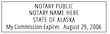 AK-NOT-1 - Alaska Notary Stamp