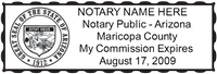 AZ-NOT-1 - Arizona Notary Stamp