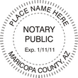 AZ-NOT-RND - Arizona Round Notary Stamp