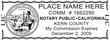 CA-NOT-1 - California Notary Stamp