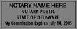 DE-NOT-1 - Delaware Notary Stamp