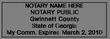 GA-NOT-1 - Georgia Notary Stamp