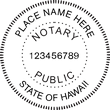 HI-NOT-RND - Hawaii Round Notary Stamp