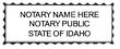 ID-NOT-1 - Idaho Notary Stamp