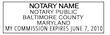 MD-NOT-1 - Maryland Notary Stamp