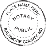 MD-NOT-SEAL - Maryland Notary Seal