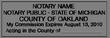 MI-NOT-1 - Michigan Notary Stamp