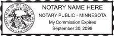 MN-NOT-1 - Minnesota Notary Stamp