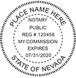NV-NOT-RND - Nevada Round Notary Stamp