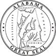SS-AL - State Seal - Alabama<br>SS-AL