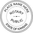 KS-NOT-RND - Kansas Round Notary Stamp