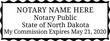 ND-NOT-1 - North Dakota Notary Stamp