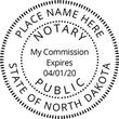 ND-NOT-RND - North Dakota Round Notary Stamp