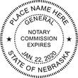NE-NOT-RND - Nebraska Round Notary Stamp