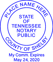 Tennessee Round Notary Stamp