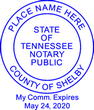 TN-NOT-RND - Tennessee Round Notary Stamp