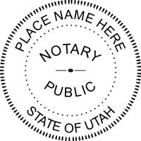 Utah Round Notary Stamp Or Seal