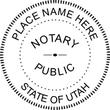 UT-NOT-RND - Utah Round Notary Stamp or Seal