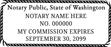 WA-NOT-1 - Washington Notary Stamp